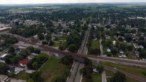 Fostoria Aerial View 2